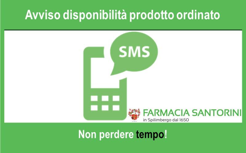 Avviso disponibilità prodotto tramite SMS