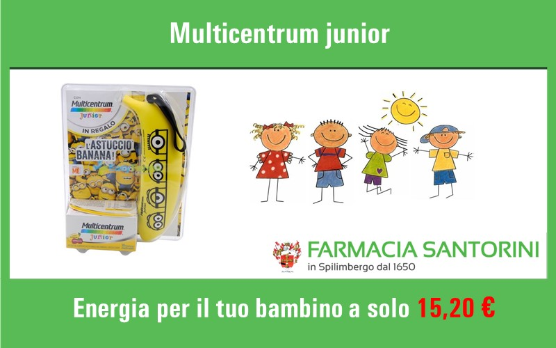 Multicentrum Junior 30cpr +Astuccio Banana Omaggio