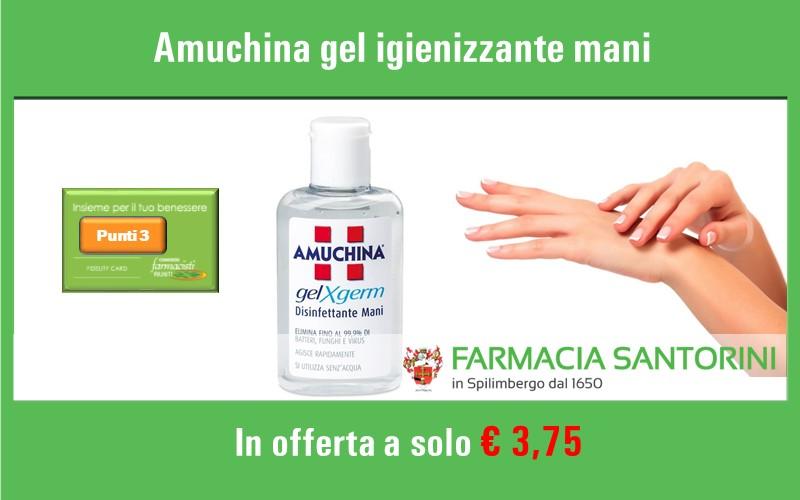 Gel igienizzante mani