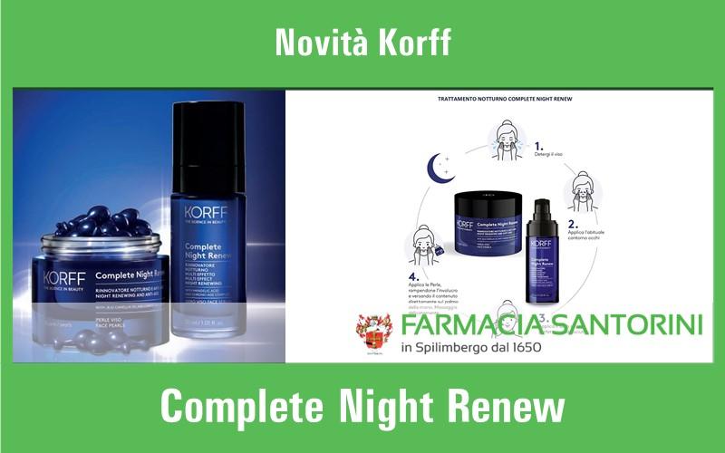 Novità Korff per la notte